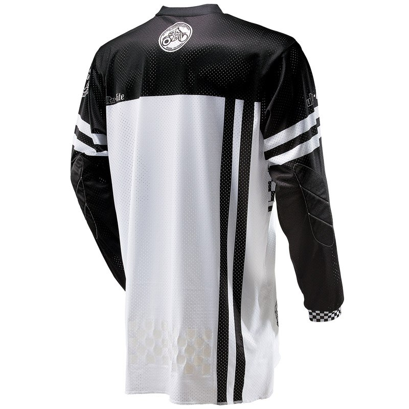 Maillot cross O'Neal ULTRA LITE '70 - BLACK WHITE 2021