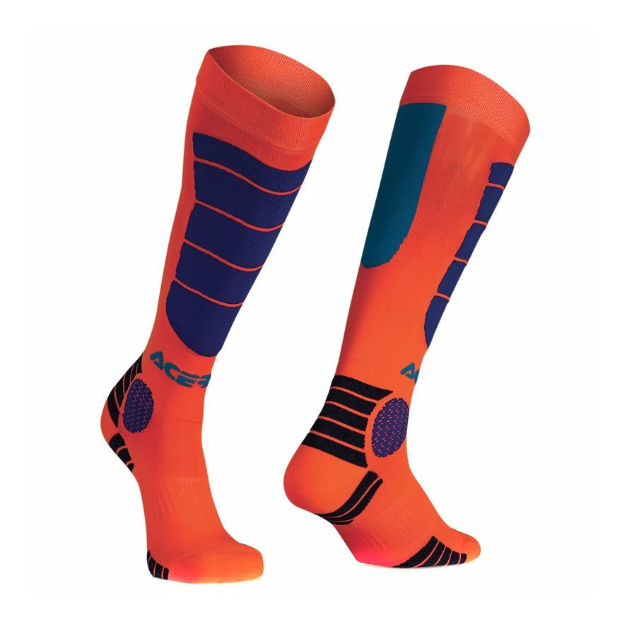 Chaussettes Acerbis MX IMPACT JUNIOR - ORANGE FLUO / BLEU -