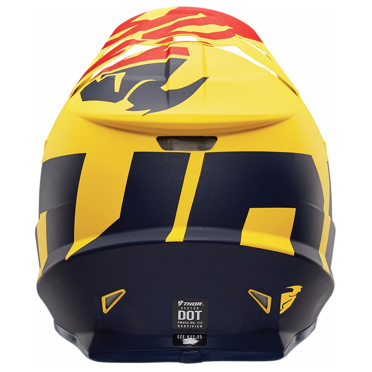 Casque cross Thor SECTOR - LEVEL - MAT BLEU JAUNE -  2018