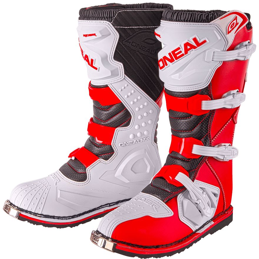 Equipement Bottes O'Neal RED WHITE du 2019 cross RIDER dCeBxro