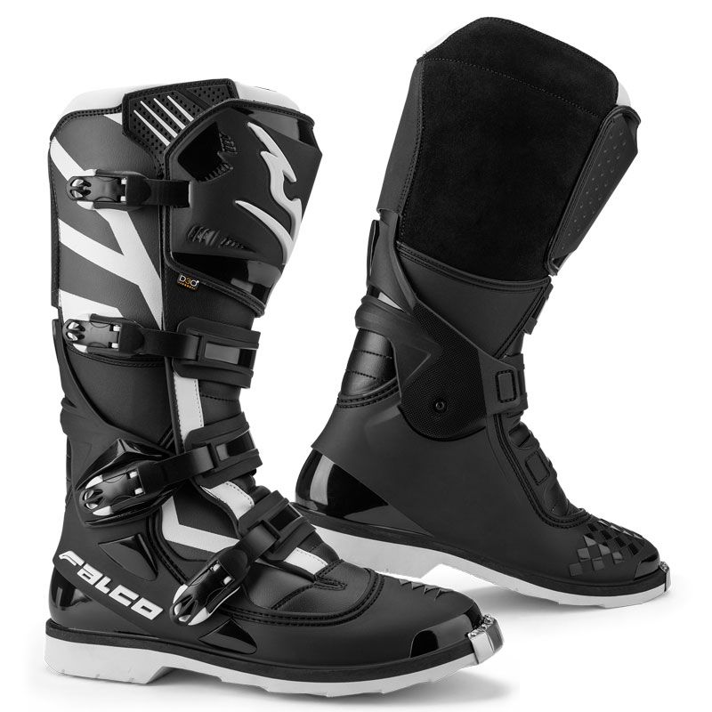 Bottes cross Falco RAZOR BLACK/WHITE 2020