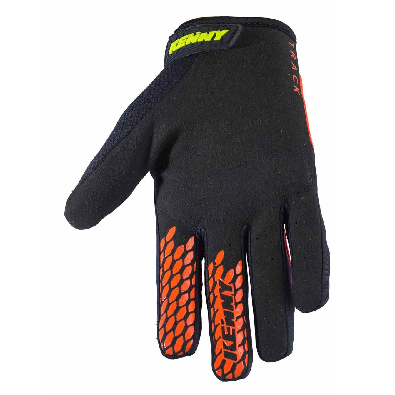 Gants cross Kenny TRACK YOUTH - NOIR ORANGE FLUO -