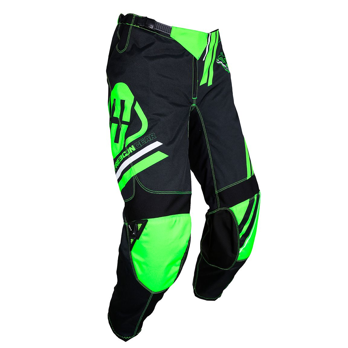 Pantalon cross Shot by Freegun DEVO COLLEGE NEON GREEN 2020