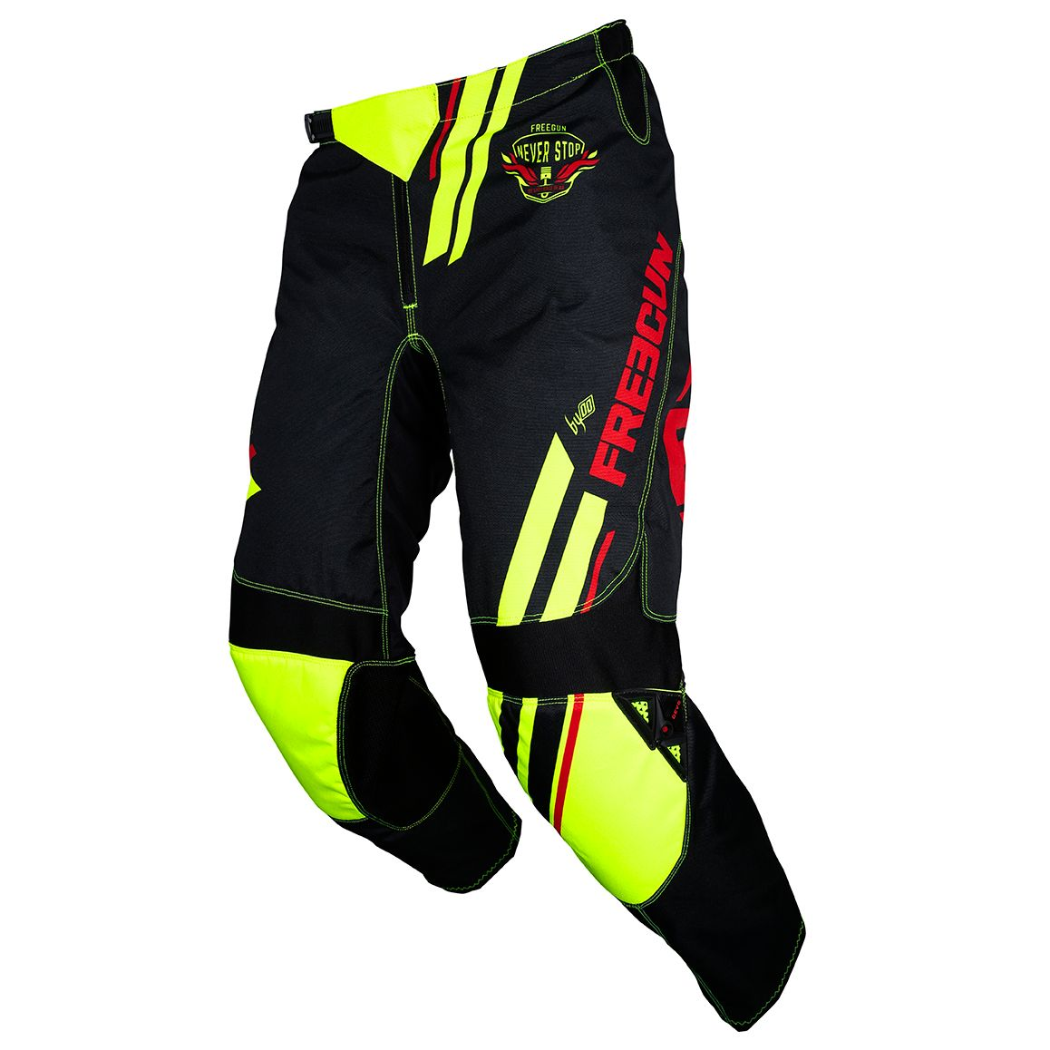 Pantalon cross Shot by Freegun DEVO COLLEGE NEON YELLOW 2020