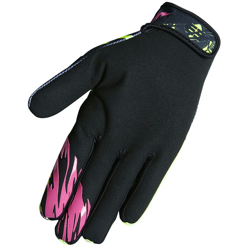 Gants cross Shot by Freegun DEVO NERVE NEON YELLOW PINK ENFANT