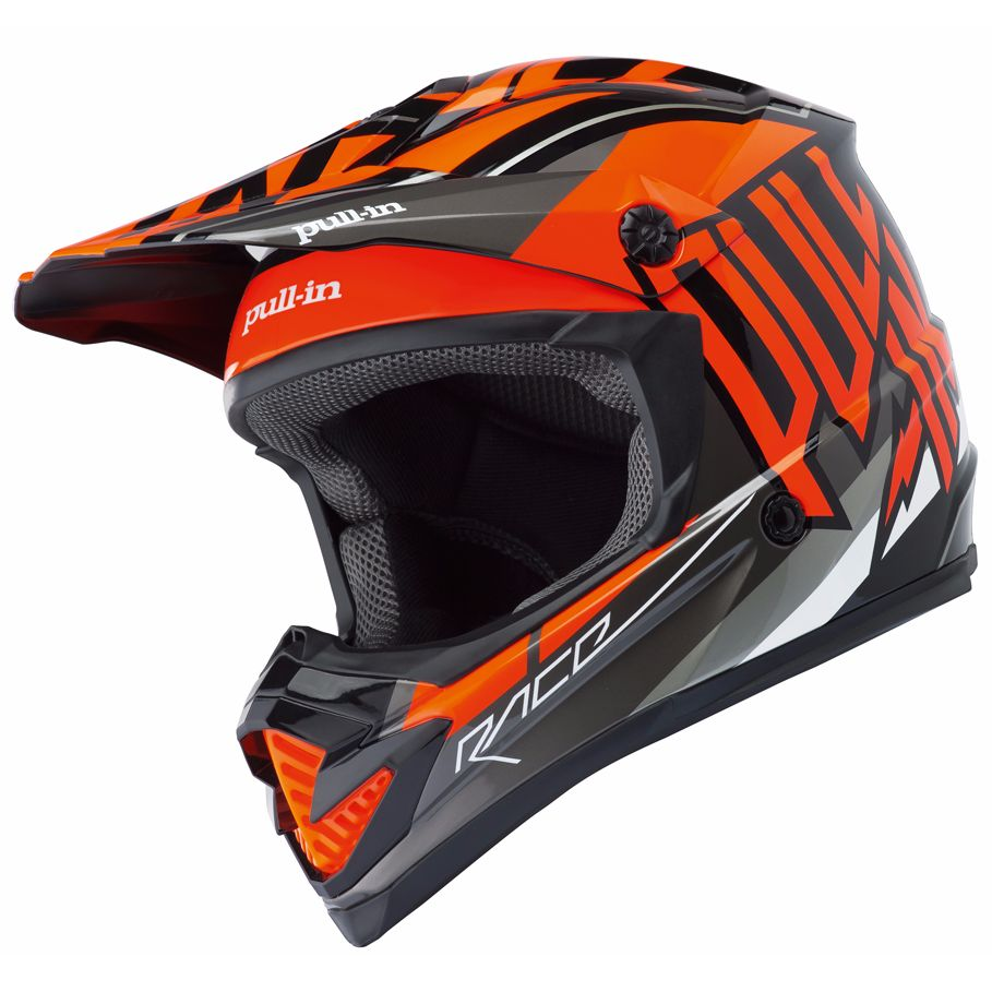 casque cross pull in moto kid orange 2018 equipement du cross access. Black Bedroom Furniture Sets. Home Design Ideas