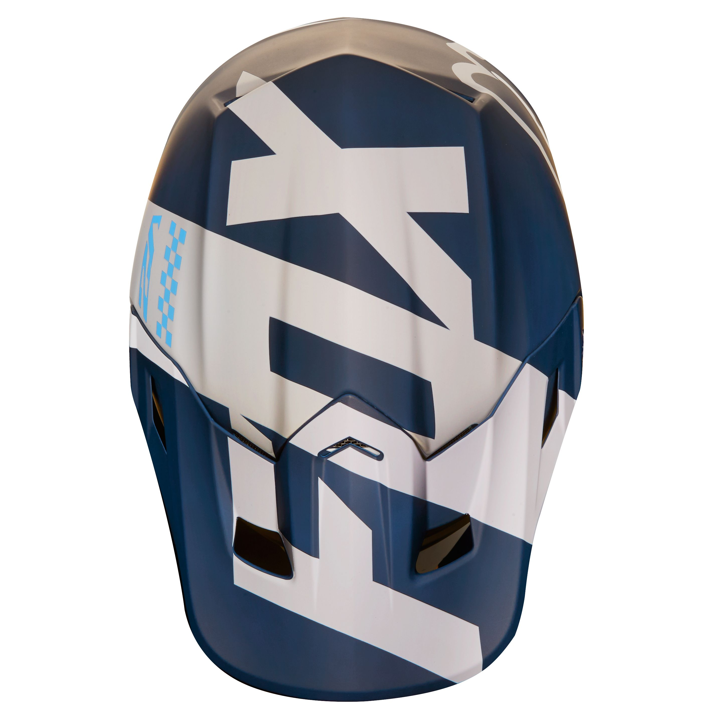 Casque cross Fox V2 MASTAR - BLEU MARINE (Mat) -  2018