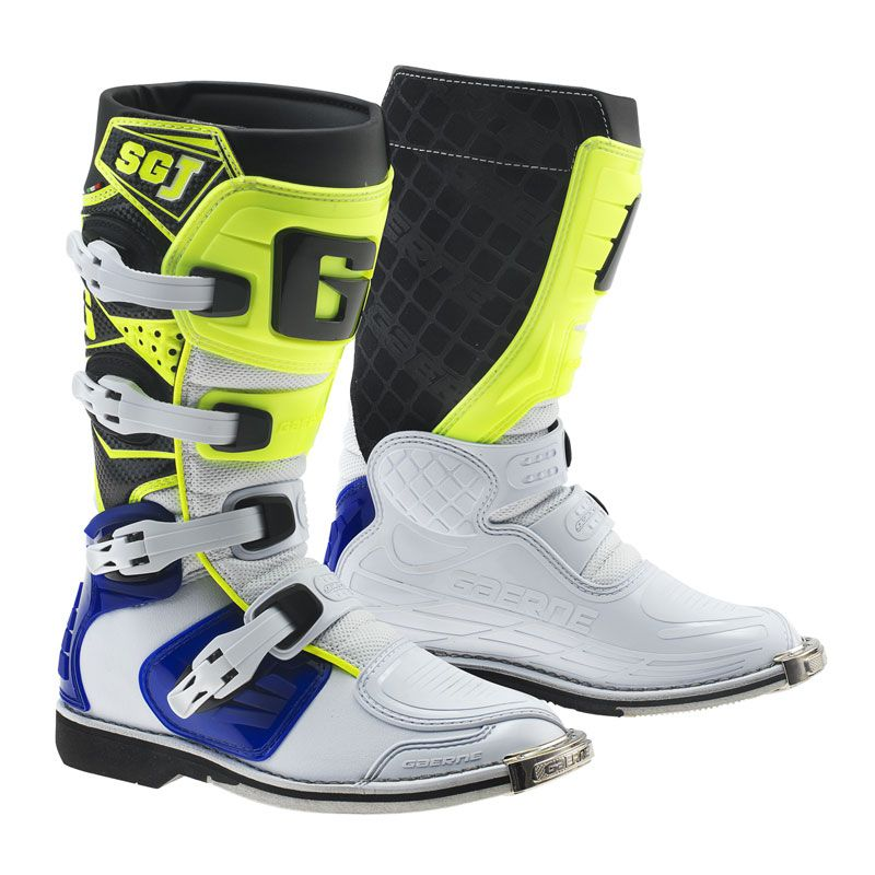Bottes cross Gaerne SG.J  WHITE/BLUE/YELLOW FLUO ENFANT