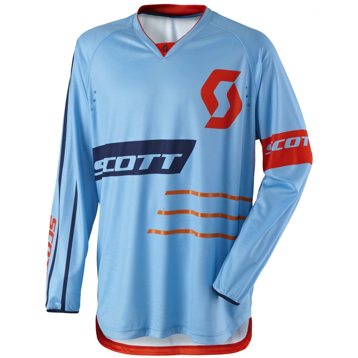Maillot cross Scott destockage 350 DIRT BLUE ORANGE 2017