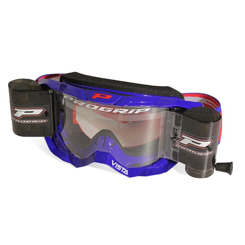 Masque cross Progrip VISTA 3318/18 Bleu avec Roll off 2019