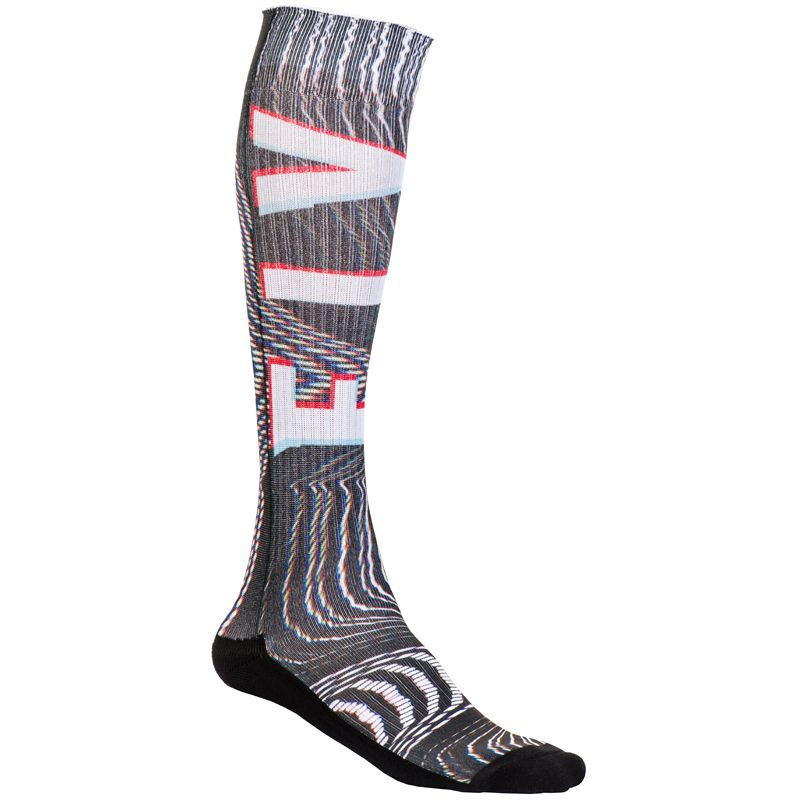 Chaussettes Fly THIN GLITCH BLACK WHITE