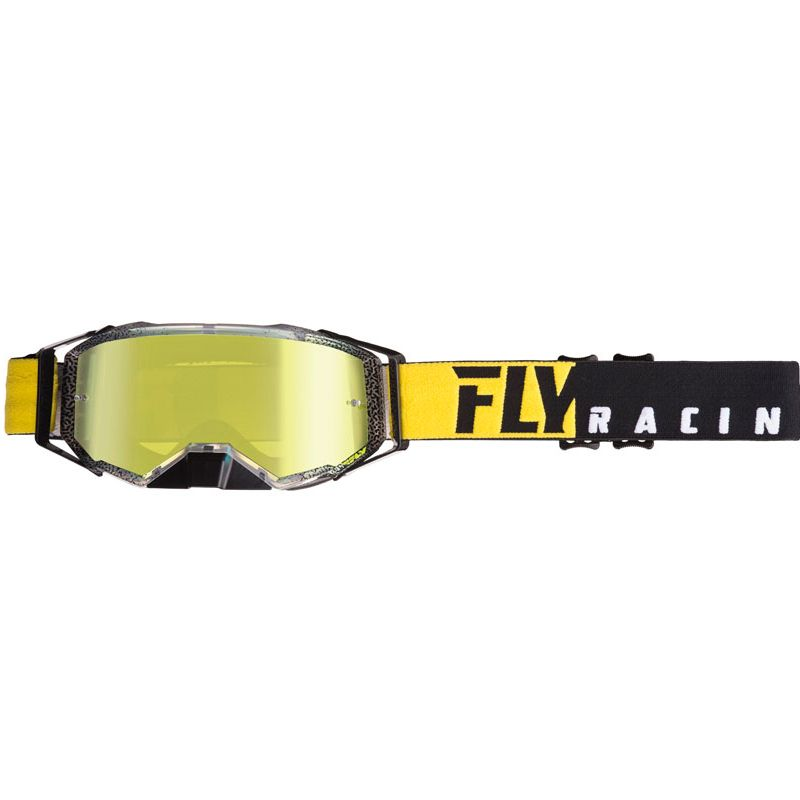 Masque cross Fly ZONE PRO - BLACK YELLOW 2020