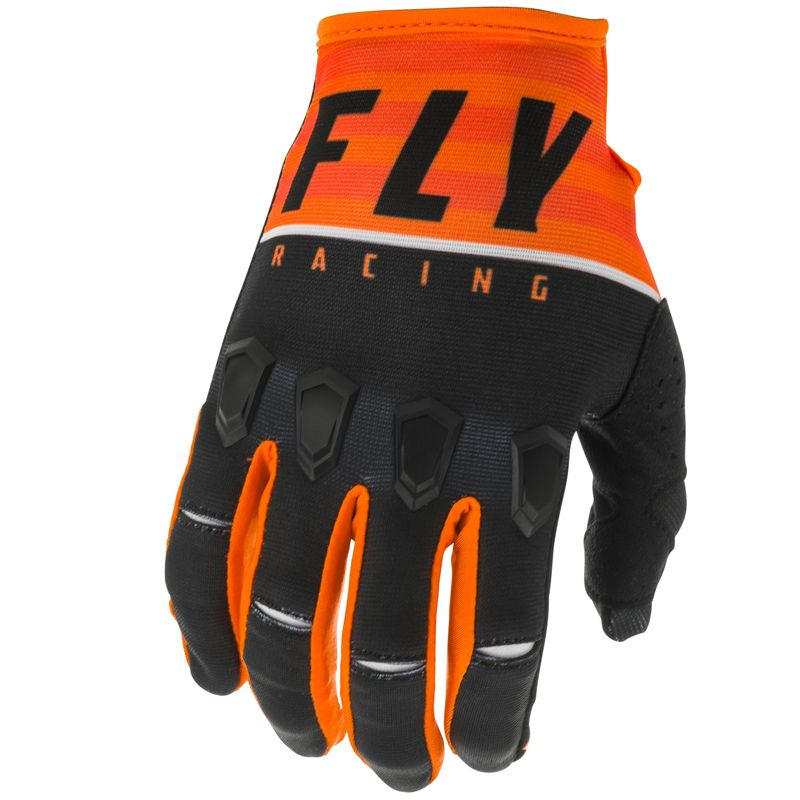 Gants cross Fly KINETIC K120 ORANGE BLACK WHITE ENFANT