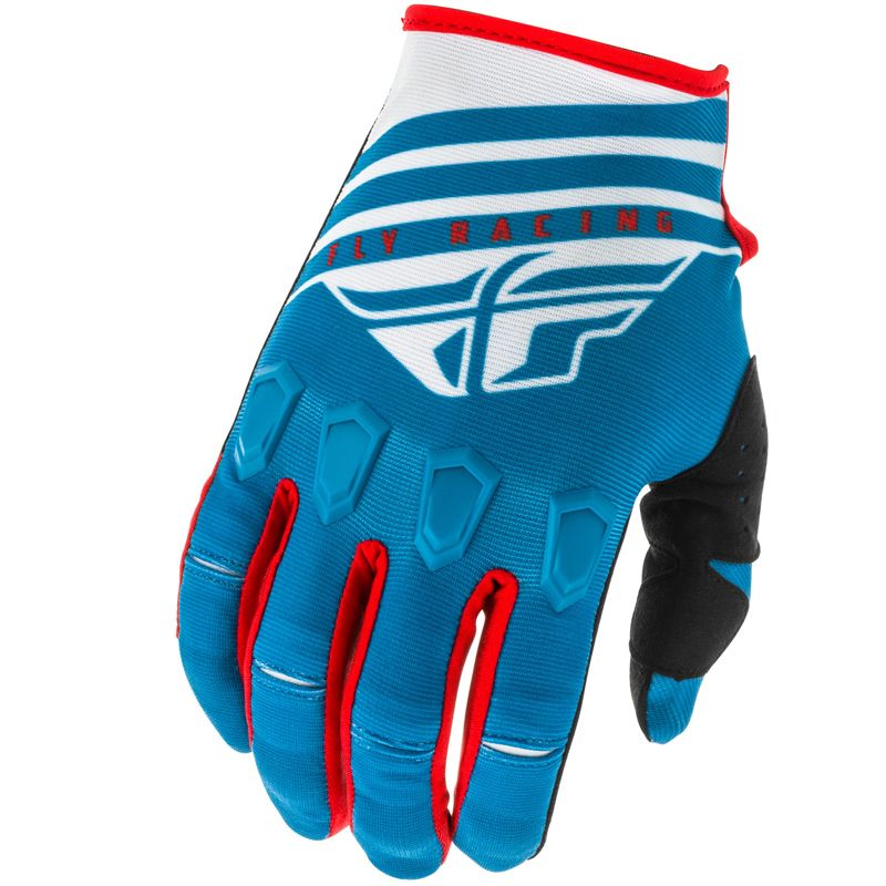 Gants cross Fly KINETIC K220 BLUE WHITE RED ENFANT