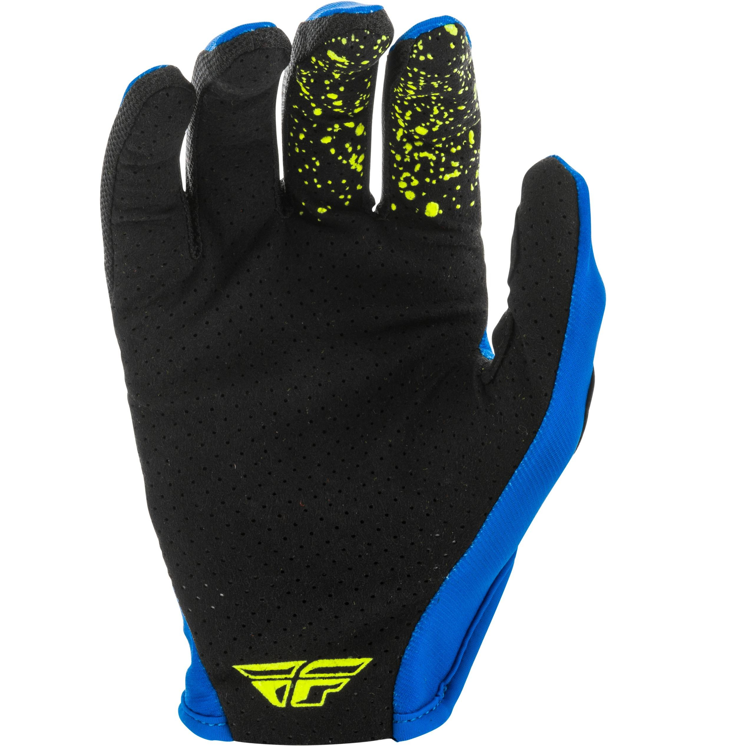Gants cross Fly LITE BLUE BLACK HI-VIS ENFANT