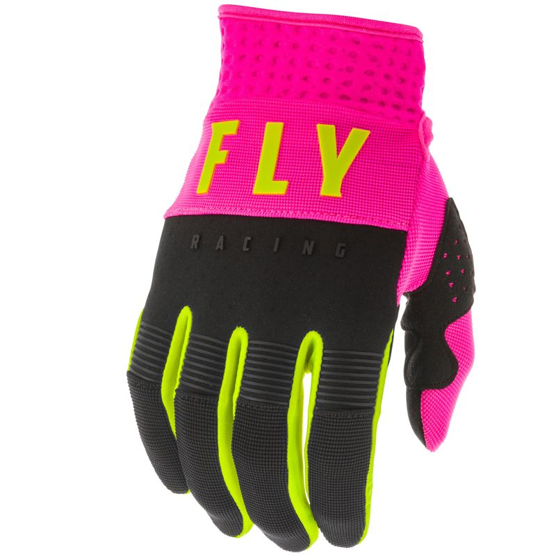 Gants cross Fly F-16 NEON PINK BLACK HI-VIS 2020