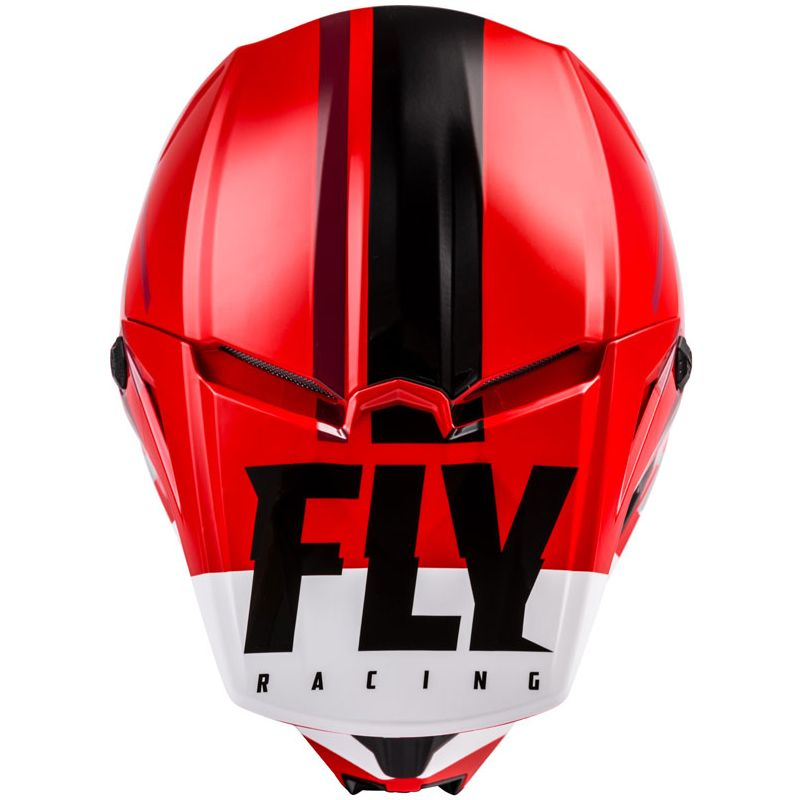 Casque cross Fly KINETIC THRIVE RED WHITE BLACK ENFANT