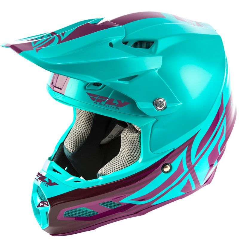 Casque cross Fly F2 CARBON MIPS - SHIELD - SEAFOAM PORT 2020