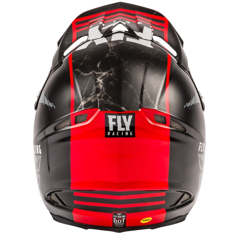 Casque cross Fly F2 CARBON MIPS - GRANITE RED BLACK WHITE 2020