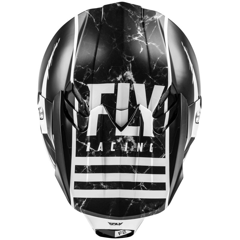 Casque cross Fly F2 CARBON MIPS - GRANITE WHITE BLACK GREY 2020