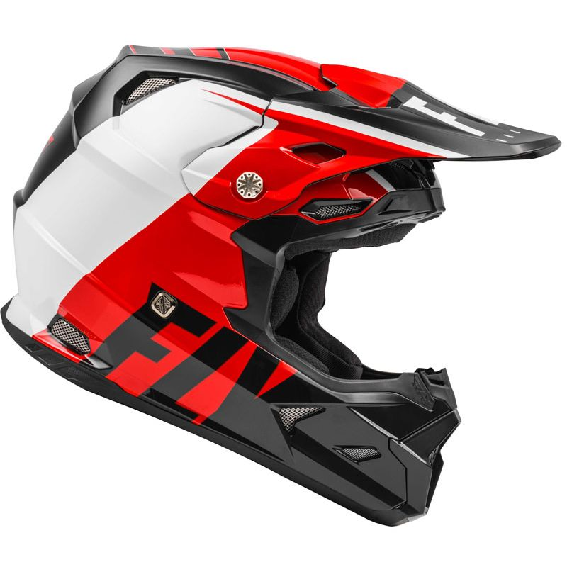 Casque cross Fly TOXIN TRANSFER MIPS - RED BLACK WHITE ENFANT