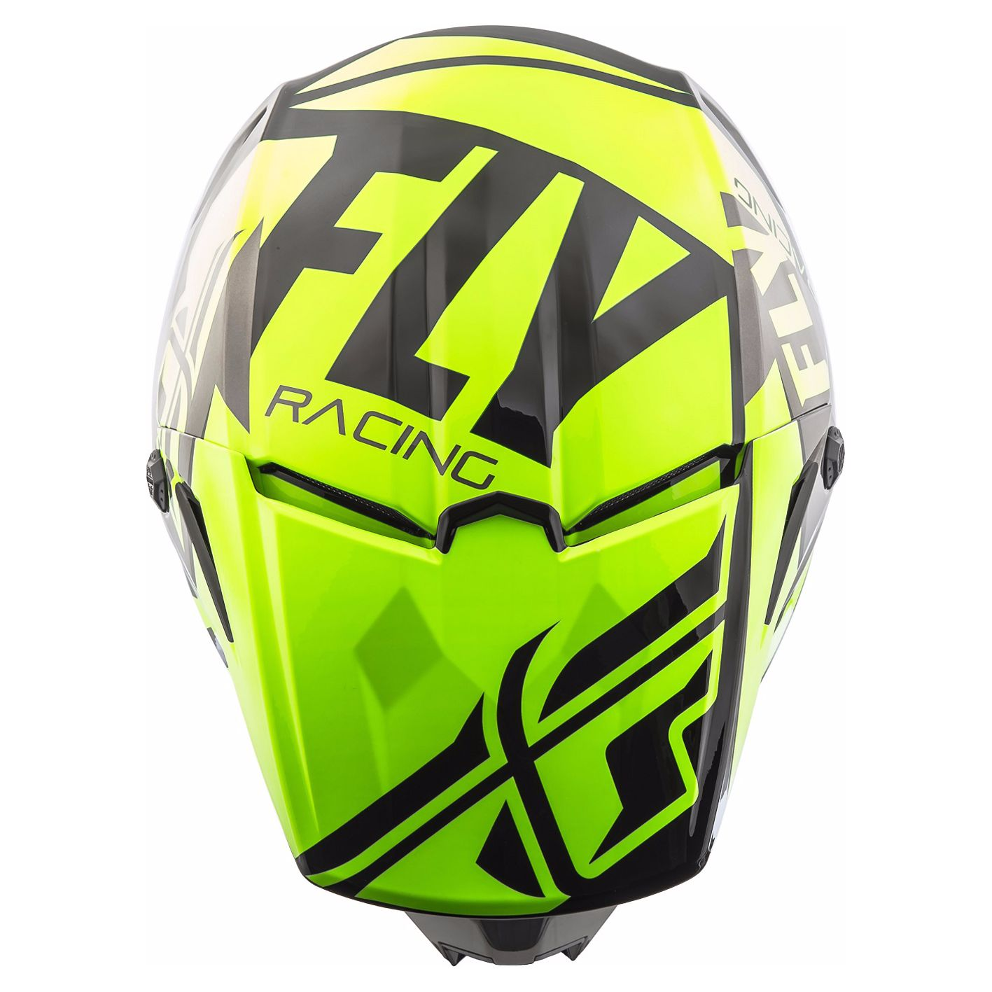 Casque cross Fly ELITE GUILD - HI-VIS GREY BLACK 2019