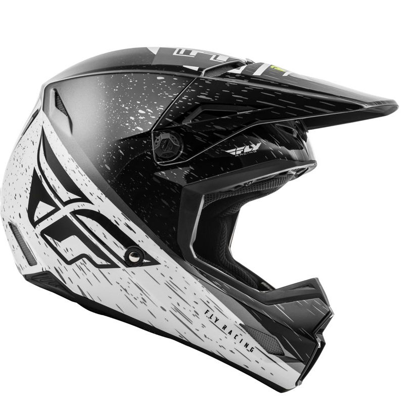 Casque cross Fly KINETIC K120 BLACK WHITE HI-VIS 2020
