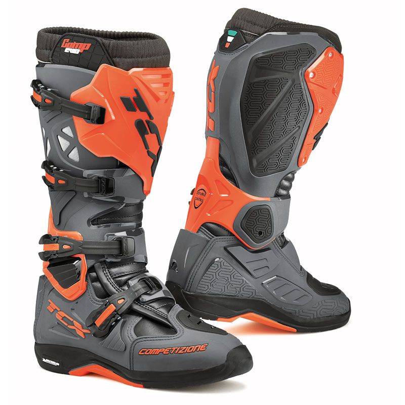 Bottes cross TCX Boots COMP EVO 2 MICHELIN GRIS/ORANGE FLUO 2019