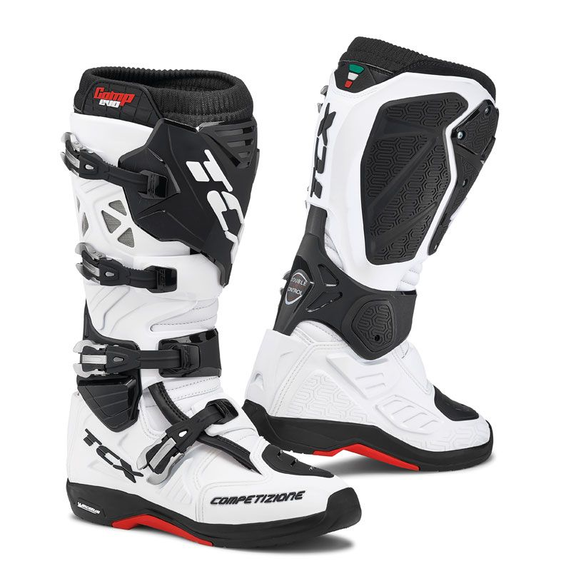Bottes cross TCX Boots COMP EVO 2 MICHELIN BLANC 2019