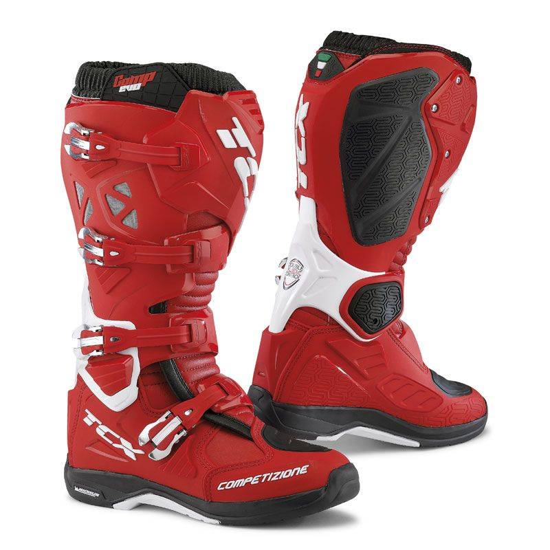 Bottes cross TCX Boots COMP EVO 2 MICHELIN ROUGE/BLANC 2019