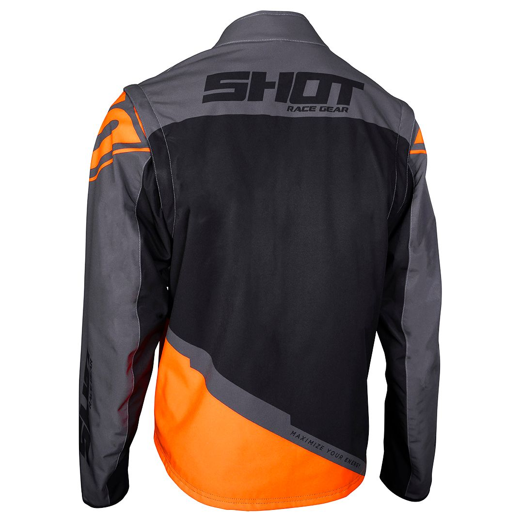 Veste enduro Shot SOFTSHELL LITE - GREY NEON ORANGE 2020