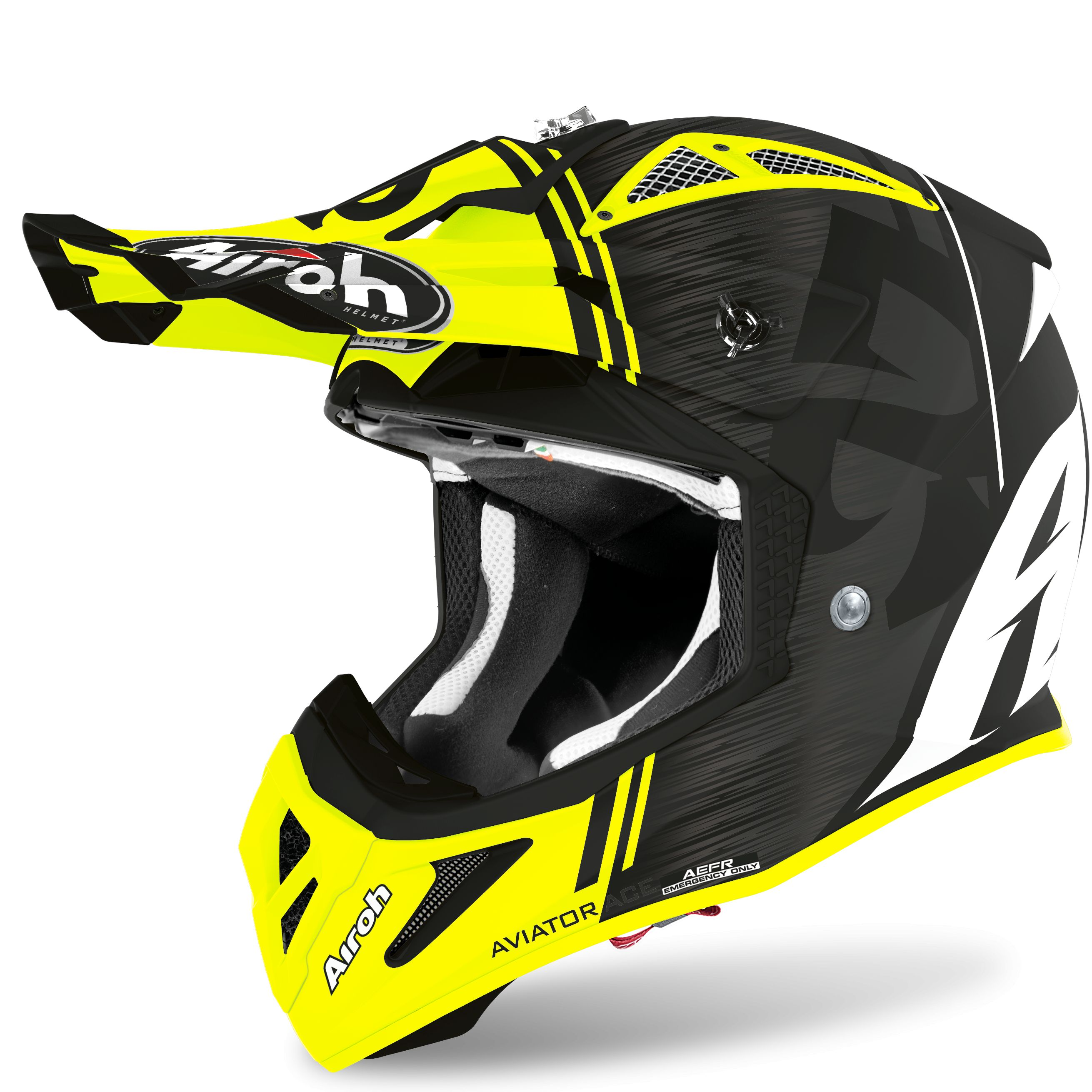 Casque cross Airoh AVIATOR ACE - KYBON - YELLOW MATT 2020