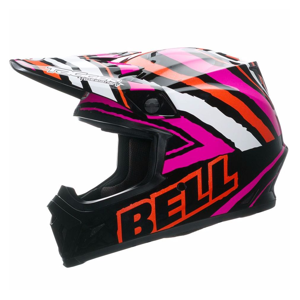 Casque cross Bell destockage MX-9 - TAGGER SCRUB PINK 2017