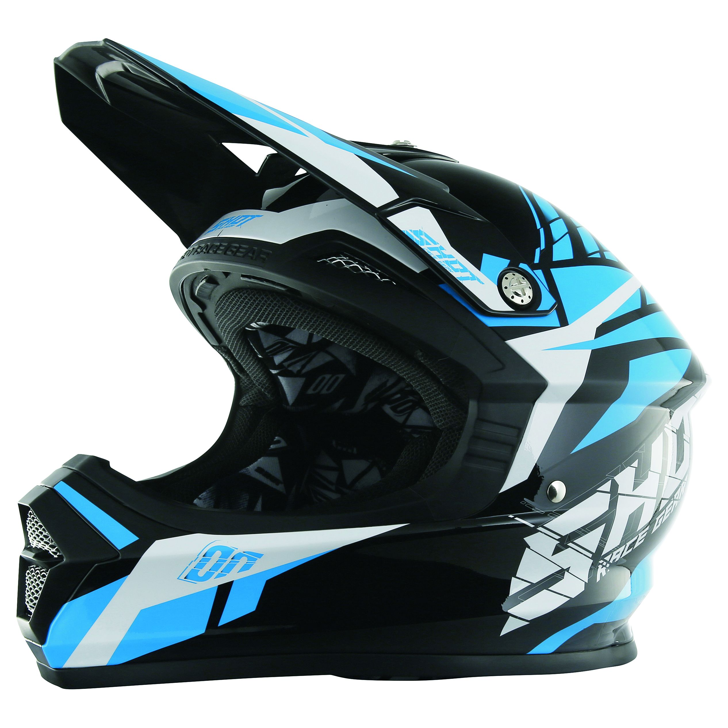 Casque cross Shot destockage FURIOUS SQUAD BLEU  2017