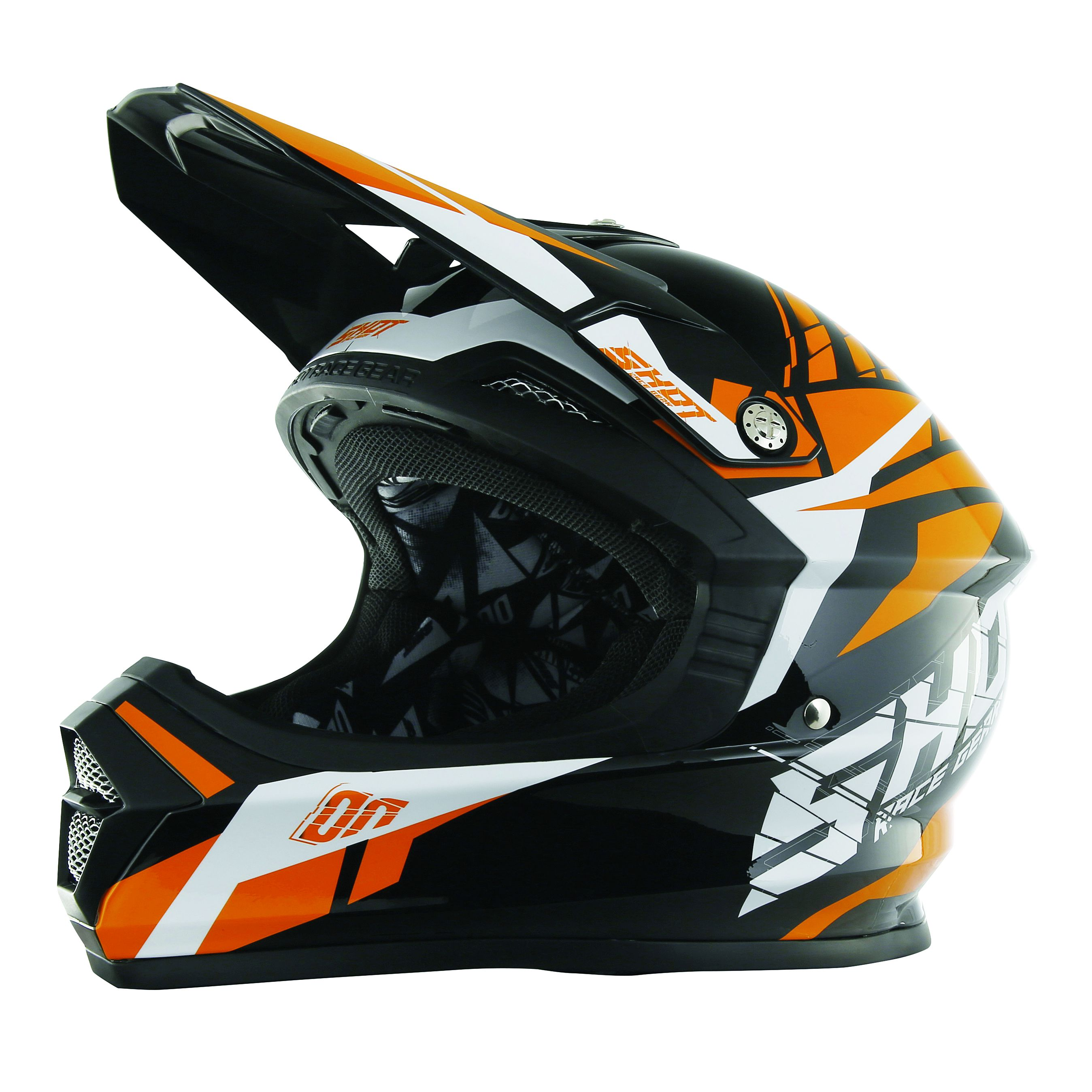 Casque cross Shot destockage FURIOUS SQUAD ORANGE  2017
