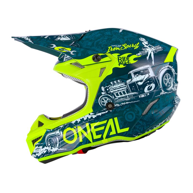 Casque cross O'Neal 5 SERIES - HR - BLUE NEON YELLOW GLOSSY 2020