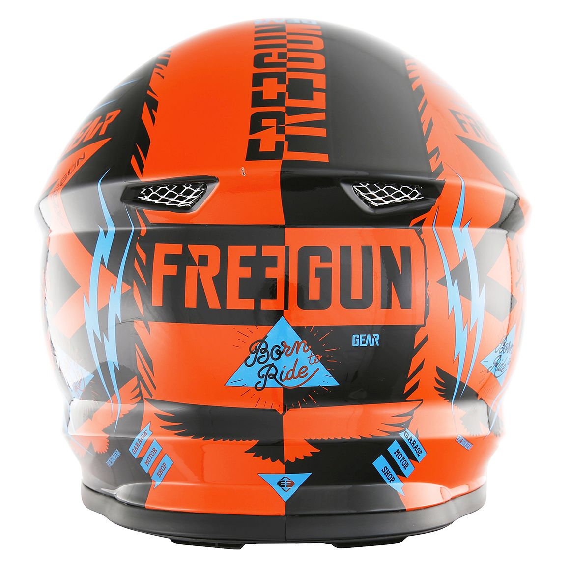 Casque cross Shot destockage XP4 TROOPER NEON ORANGE CYAN  2017