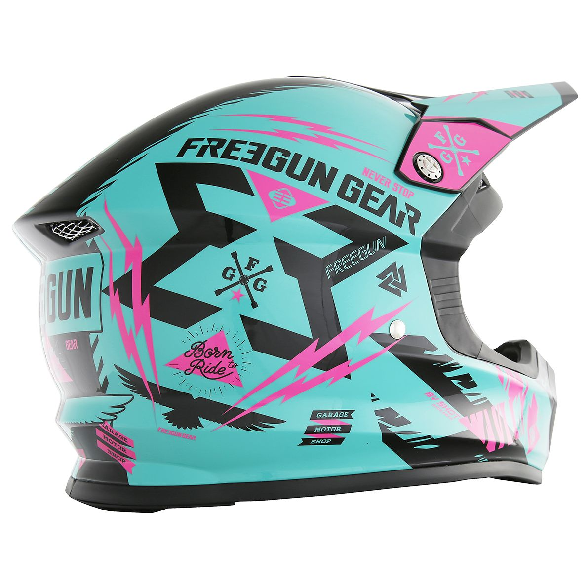 Casque cross Shot destockage XP4 TROOPER MINT NEON ROSE  2017