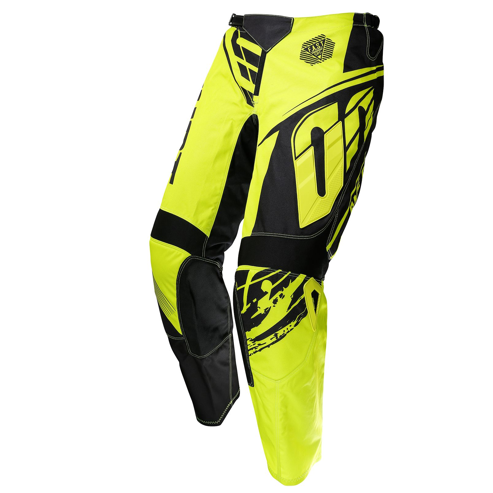 Pantalon cross Shot destockage DEVO FAST NEON JAUNE ENFANT