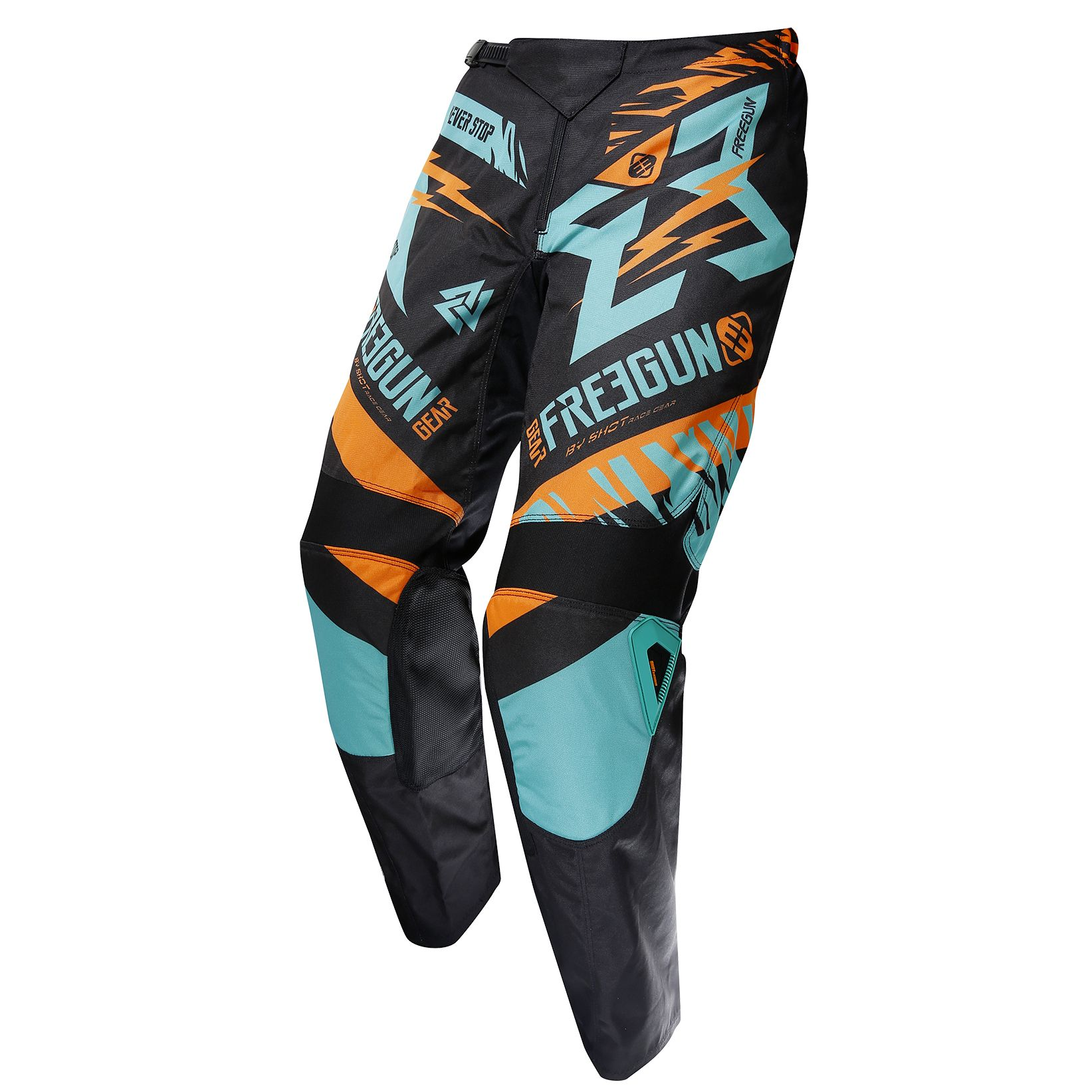 Pantalon cross Shot destockage DEVO TROOPER MINT ORANGE ENFANT