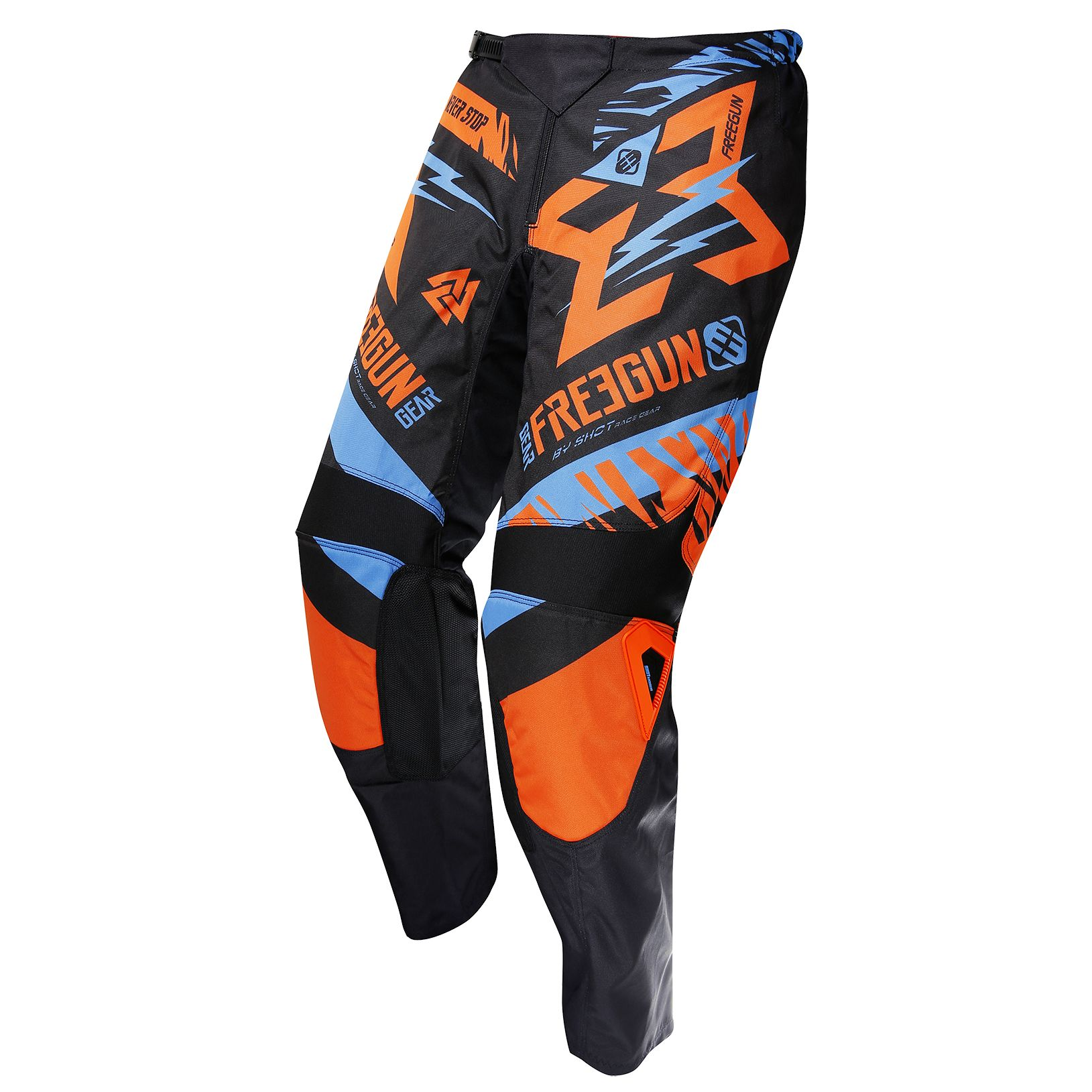 Pantalon cross Shot destockage DEVO TROOPER NEON ORANGE CYAN ENFANT