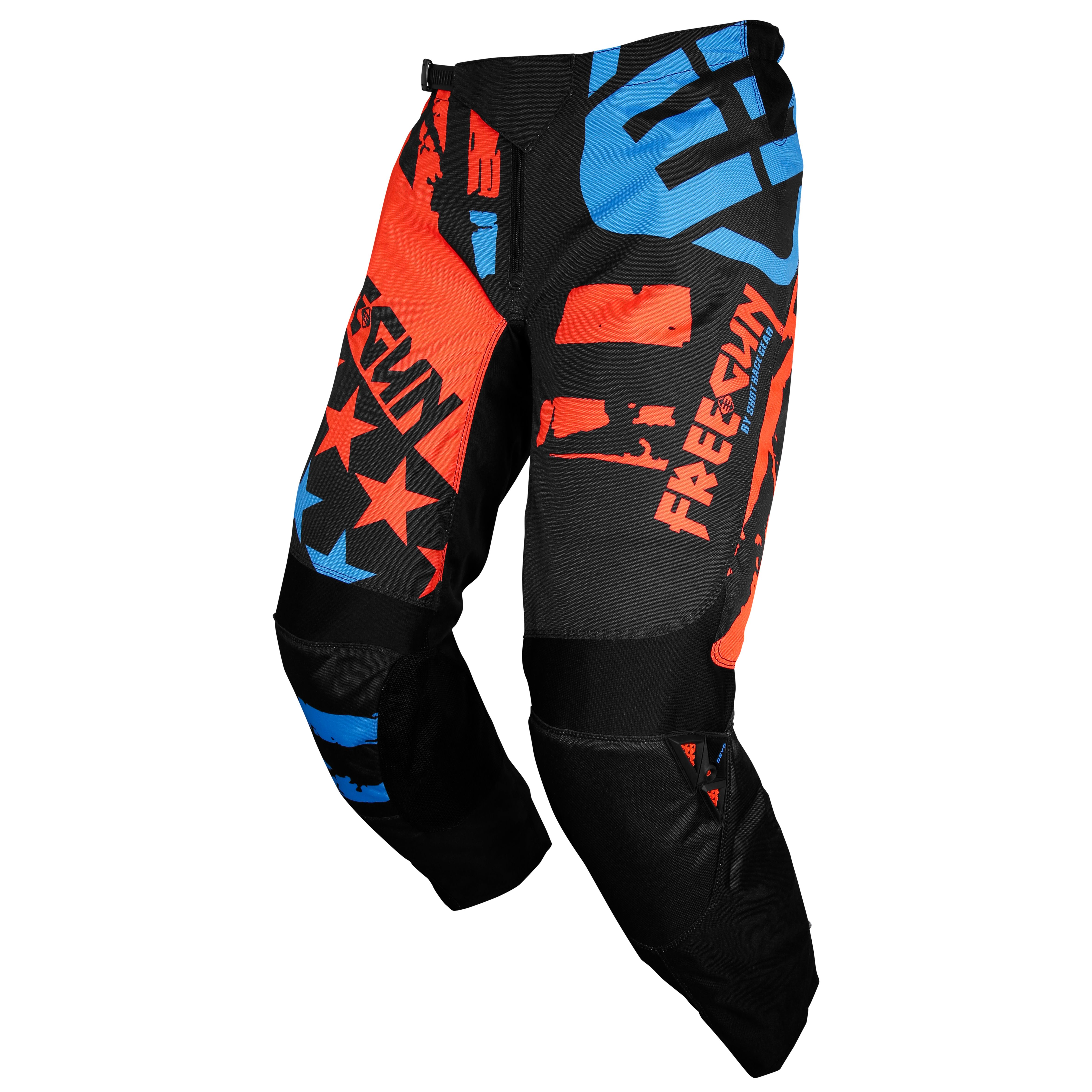 Pantalon cross Shot by Freegun DEVO USA NEON ORANGE BLUE ENFANT