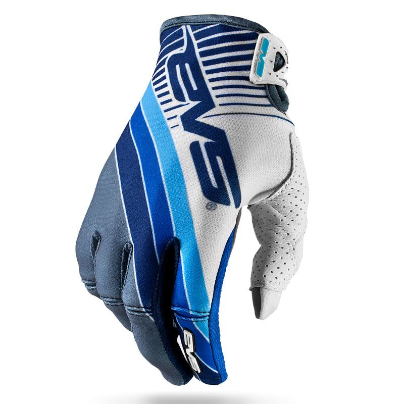 Gants cross EVS Pro GT GREY WHITE BLUE  2017