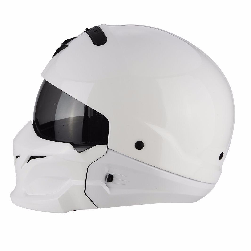 casque scorpion exo exo combat solid white equipement du pilote access. Black Bedroom Furniture Sets. Home Design Ideas