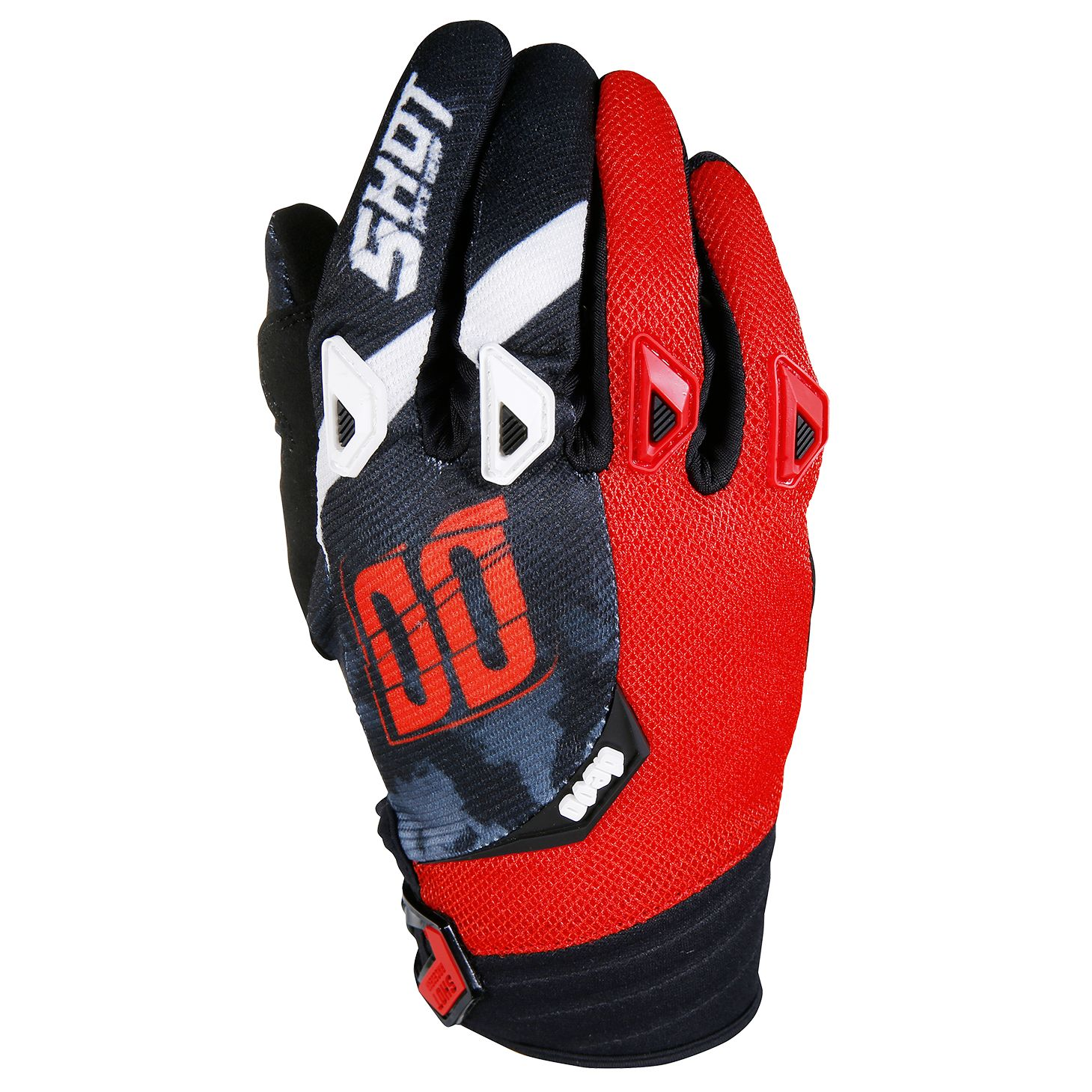 Gants cross Shot destockage DEVO SQUAD ROUGE  2017