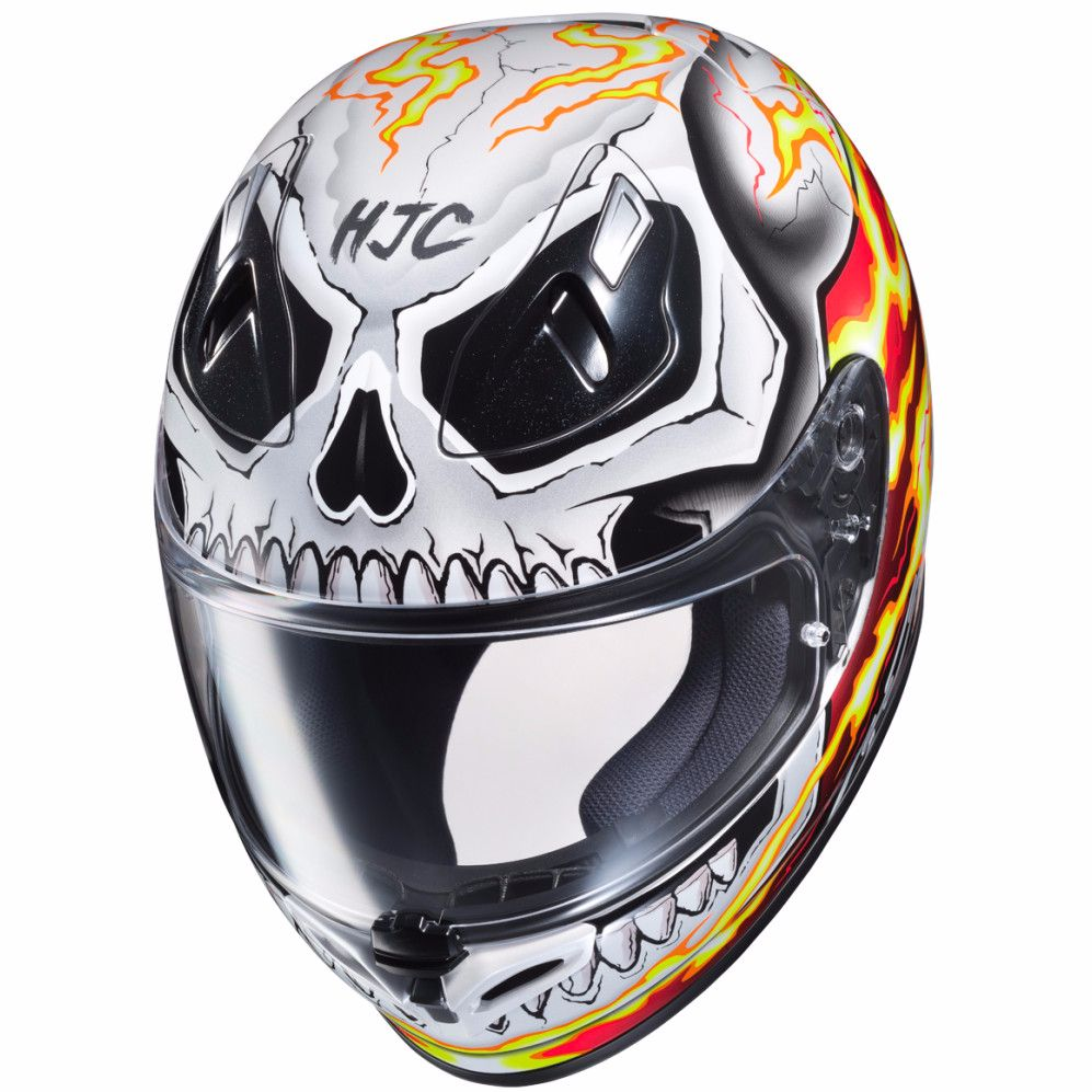 casque hjc fg st ghost rider marvel equipement du pilote access. Black Bedroom Furniture Sets. Home Design Ideas