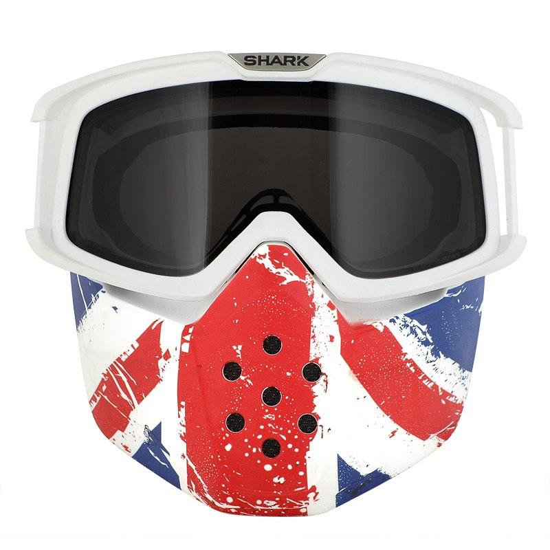 ecran casque shark kit masque lunettes pour casque drak ancien raw union jack equipement. Black Bedroom Furniture Sets. Home Design Ideas