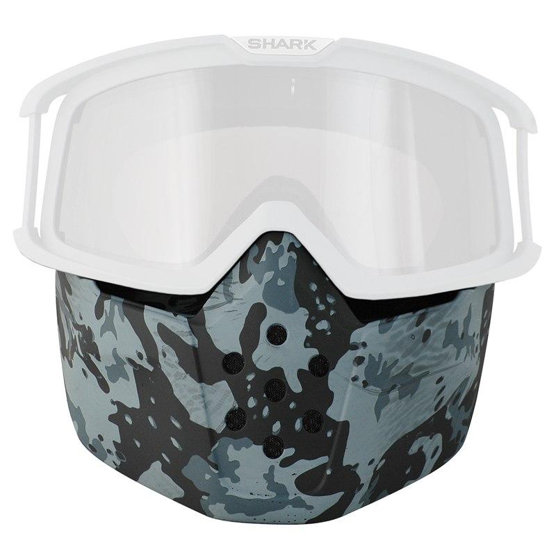 ecran casque shark masque pour casque drak ancien raw grey camo equipement du pilote. Black Bedroom Furniture Sets. Home Design Ideas