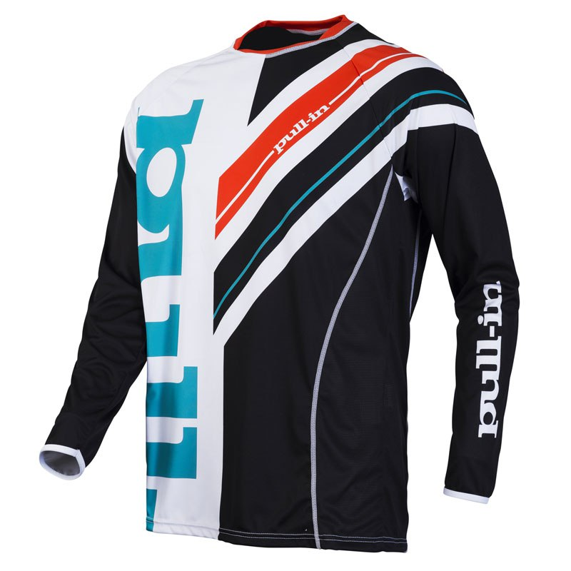 Maillot cross Pull-in destockage FRENCHY  NOIR/BLANC 2016