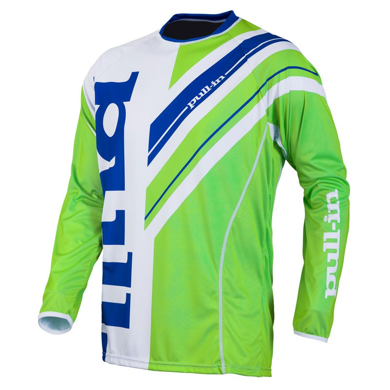 Maillot cross Pull-in destockage FRENCHY  BLANC/VERT 2016